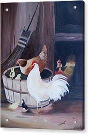 Barnyard Acrylic Print by Glenda Barrett