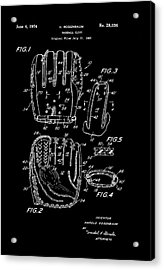 Baseball Glove Patent 1974 Acrylic Print by Mountain Dreams