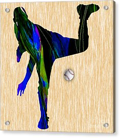 Baseball Pitcher Acrylic Print by Marvin Blaine