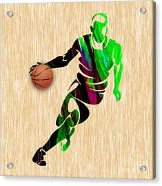 Basketball Acrylic Print by Marvin Blaine
