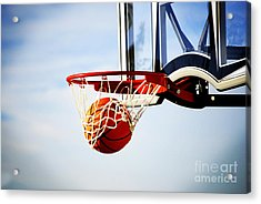 Basketball Shot Acrylic Print by Lane Erickson