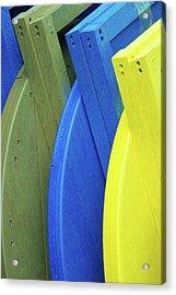 Beach Chair Palette  Acrylic Print by Allen Beatty