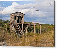 Beach Changing Shack Acrylic Print