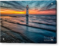 Beach Sunset Acrylic Print by Adrian Evans