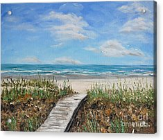 Beach Walkway Acrylic Print