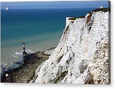 Beachy Head Cliffs And Lighthouse  Acrylic Print by James Brunker