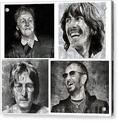 Beatles Acrylic Print by Galeria Zullian  Trompiz