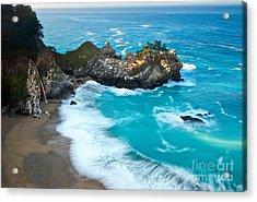 Beautiful Mcway Falls Along The Big Sur Coast. Acrylic Print
