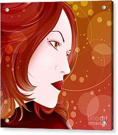 Bella Donna II Acrylic Print by Sandra Hoefer