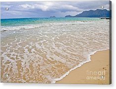 Bellows Beach Acrylic Print by Gina Savage