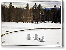 Berkshires Winter 3 - Massachusetts Acrylic Print by Madeline Ellis