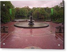 Bethesda Fountain Acrylic Print by Cornelis Verwaal