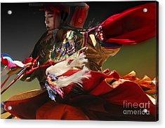 Acrylic Print featuring the digital art Bhutanese Festival by Angelika Drake