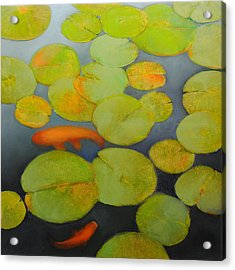 Big Koi Sold Acrylic Print by Cap Pannell
