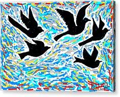 Birds In Flight Acrylic Print by Anand Swaroop Manchiraju
