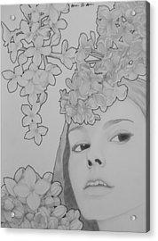 Blooming Girl Lilac  Acrylic Print by Aaron El-Amin