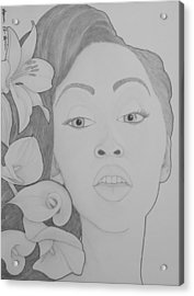 Blooming Girl Lily 2  Acrylic Print by Aaron El-Amin