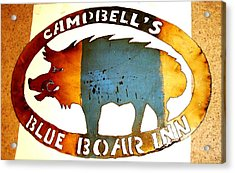 Acrylic Print featuring the photograph Blue Boar Inn by Larry Campbell