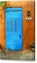 Blue Door In Santa Fe Acrylic Print