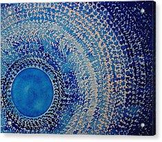Blue Kachina Original Painting Acrylic Print by Sol Luckman