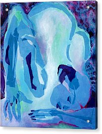 Blue Nude Acrylic Print by Diane Fine
