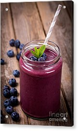 Blueberry Smoothie Acrylic Print