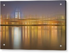 Blurred Abstract City Skyline Colorful Background Acrylic Print by Matthew Gibson
