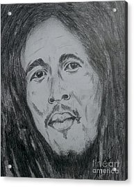 Bob Marley Acrylic Print by Collin A Clarke