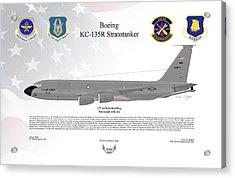 Boeing Kc-135r Stratotanker Acrylic Print by Arthur Eggers
