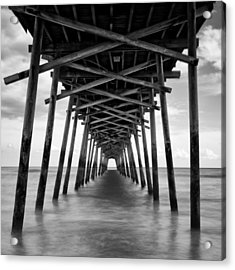 Acrylic Print featuring the photograph Bogue Inlet Fishing Pier #2 by Ben Shields