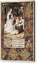 Book Of Hours For Charles V. 16th C Acrylic Print by Everett