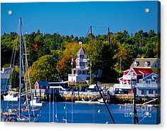 Boothbay Harbor Maine. Acrylic Print