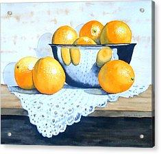 Bowl Of Oranges Acrylic Print