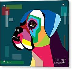 Boxer  Acrylic Print by Mark Ashkenazi