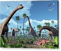 Brachiosaurus Dinosaurs Acrylic Print