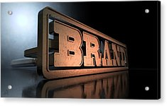 Branding Brand Concept Acrylic Print by Allan Swart