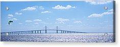Bridge Across A Bay, Sunshine Skyway Acrylic Print by Panoramic Images