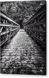Bridge Leading Into The Bamboo Jungle Acrylic Print by Edward Fielding