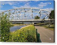 2 Bridges Acrylic Print by Scott Grassel