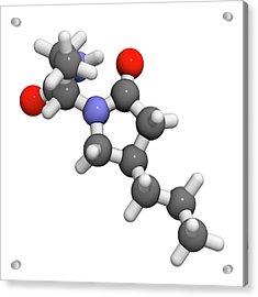 Brivaracetam Anticonvulsant Drug Molecule Acrylic Print by Molekuul