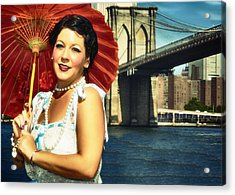 Acrylic Print featuring the photograph Brooklyn Bridge by Jim Poulos