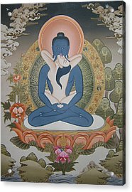 Buddha Shakti Thangka Painting Acrylic Print by Ts