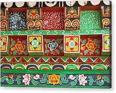 Buddhist  Monastery In Sikkim India Acrylic Print by Jaina Mishra
