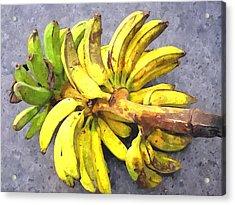 Bunch Of Banana Acrylic Print by Lanjee Chee
