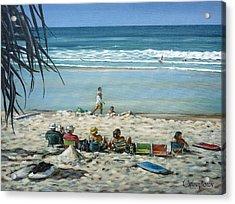 Acrylic Print featuring the painting Burleigh Beach 220909 by Selena Boron