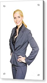 Business Woman Acrylic Print by Jorgo Photography - Wall Art Gallery