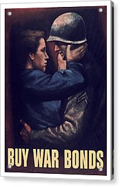 Buy War Bonds Acrylic Print by War Is Hell Store