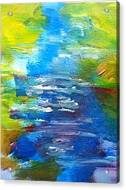 By The River Acrylic Print