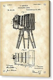 Camera Patent 1885 - Vintage Acrylic Print by Stephen Younts