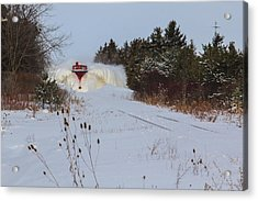 Canadian Pacific Snow Plow Acrylic Print